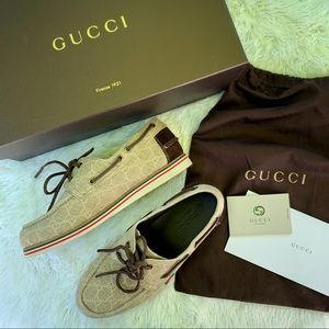 Authentic Gucci Boat Shoes
